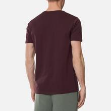 Мужская футболка Alpha Industries Basic Wine Red фото- 3