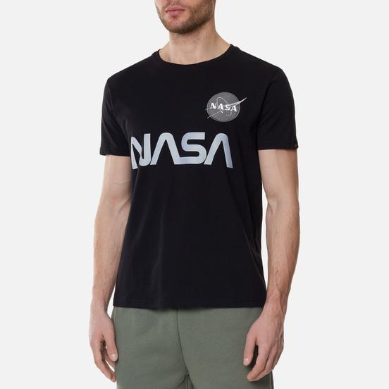 Мужская футболка Alpha Industries NASA Reflective Black