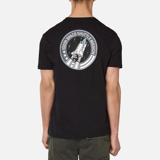 Мужская футболка Alpha Industries NASA Space Shuttle Black