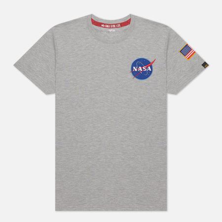 Мужская футболка Alpha Industries Nasa Space Shuttle Grey Heather