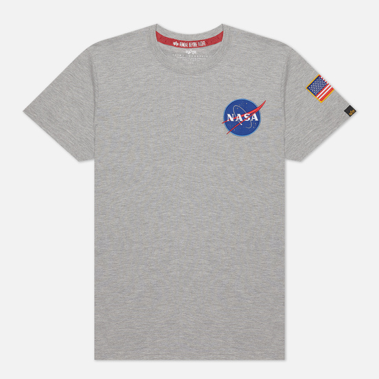 Мужская футболка Alpha Industries Nasa Space Shuttle Grey Heather