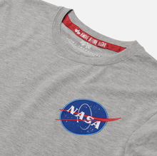 Мужская футболка Alpha Industries Nasa Space Shuttle Grey Heather фото- 1