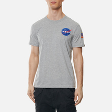 Мужская футболка Alpha Industries Nasa Space Shuttle Grey Heather фото- 3