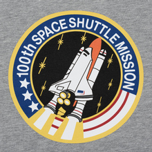 Мужская футболка Alpha Industries Nasa Space Shuttle Grey Heather фото- 5