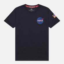 Мужская футболка Alpha Industries Nasa Space Shuttle Replica Blue фото- 0