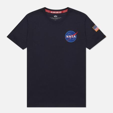 Мужская футболка Alpha Industries Nasa Space Shuttle Replica Blue