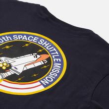 Мужская футболка Alpha Industries Nasa Space Shuttle Replica Blue фото- 2