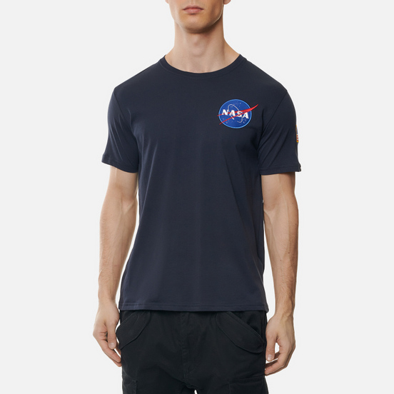 Мужская футболка Alpha Industries Nasa Space Shuttle Replica Blue