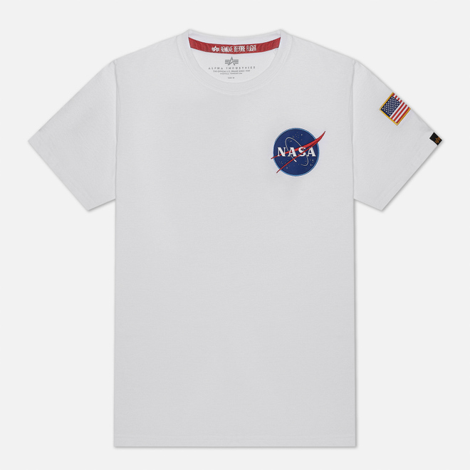 Мужская футболка Alpha Industries Nasa Space Shuttle White