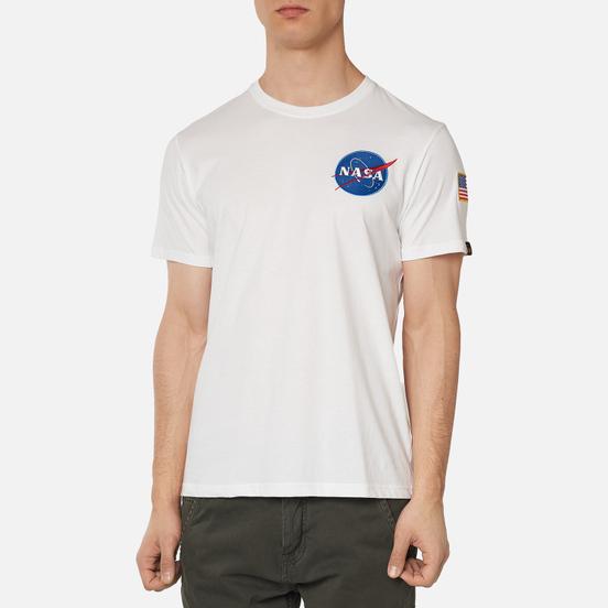Мужская футболка Alpha Industries NASA Space Shuttle White