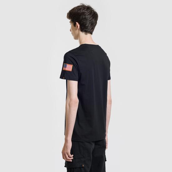 Мужская футболка Alpha Industries Nasa T Black