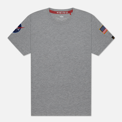 Мужская футболка Alpha Industries Nasa T Grey Heather