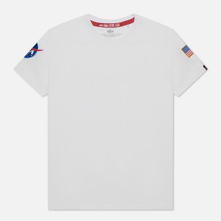 Мужская футболка Alpha Industries Nasa T White