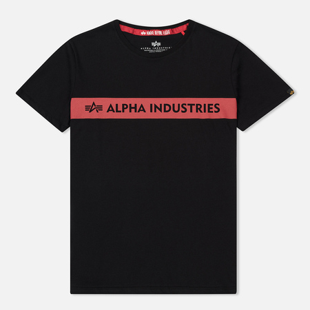 Мужская футболка Alpha Industries Red Stipe T Black