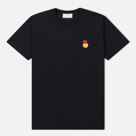 Мужская футболка AMI Patch Smiley Black