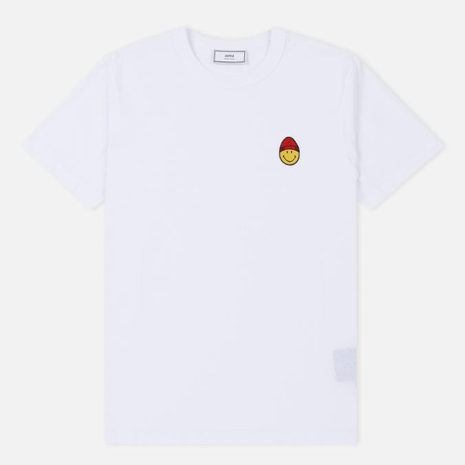 Мужская футболка AMI Patch Smiley White