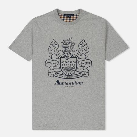 Мужская футболка Aquascutum Aldis Crest Front Grey Melange