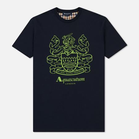 Мужская футболка Aquascutum Aldis Crest Front Navy