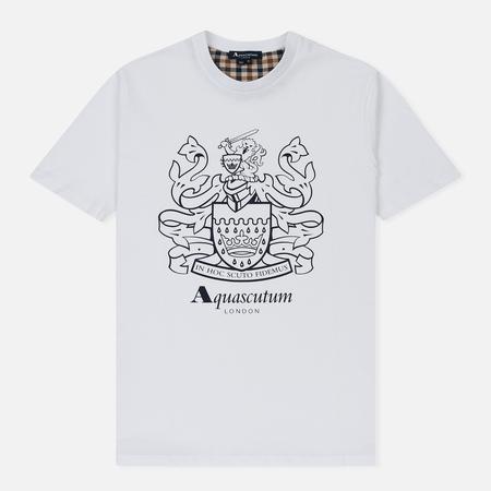 Мужская футболка Aquascutum Aldis Crest Front White