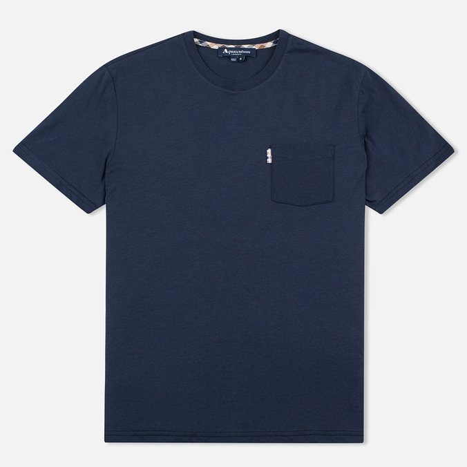Мужская футболка Aquascutum Brady Club Check Pocket Navy