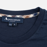 Мужская футболка Aquascutum Brady Club Check Pocket Navy фото- 2