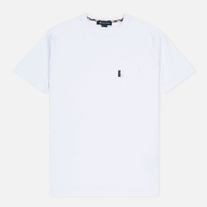 Мужская футболка Aquascutum Cullen Crew Neck White