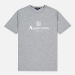 Мужская футболка Aquascutum Griffin Crew Neck Logo SS Grey Marl фото- 0