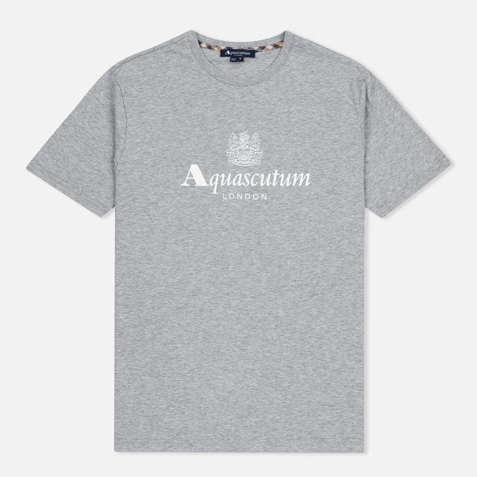 Мужская футболка Aquascutum Griffin Crew Neck Logo SS Grey Marl