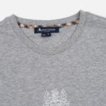Мужская футболка Aquascutum Griffin Crew Neck Logo SS Grey Marl фото- 1