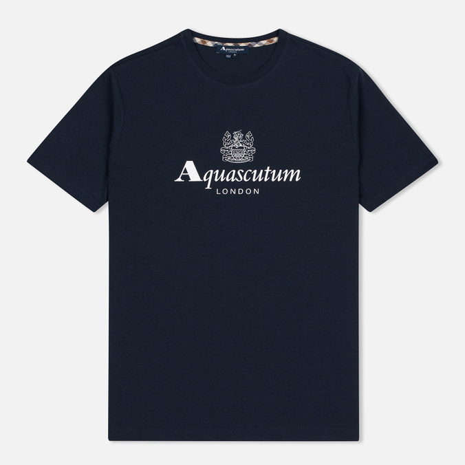 Мужская футболка Aquascutum Griffin Crew Neck Logo SS Navy