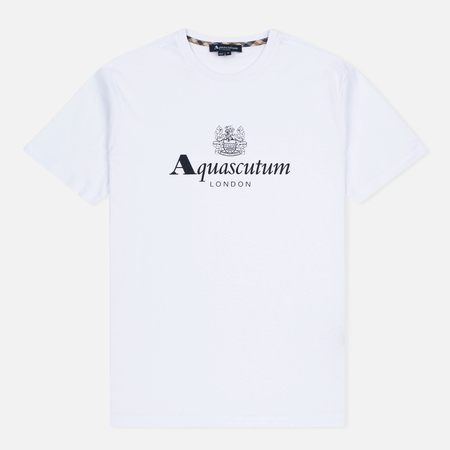 Aquascutum Griffin Crew Neck Logo SS Men's T-Shirt White