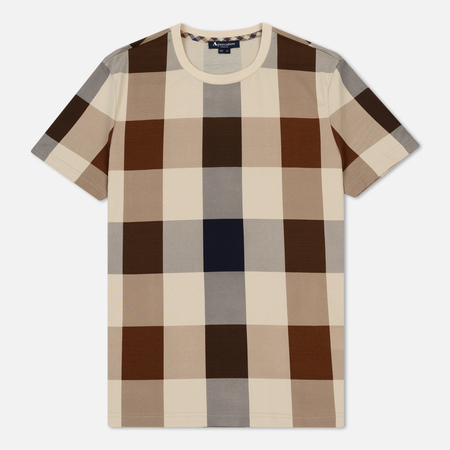 Мужская футболка Aquascutum Kenneth Large Club Check Printed Vicuna