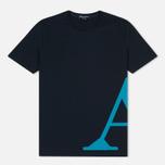 Мужская футболка Aquascutum Reid Printed Crew Neck SS Navy фото- 0