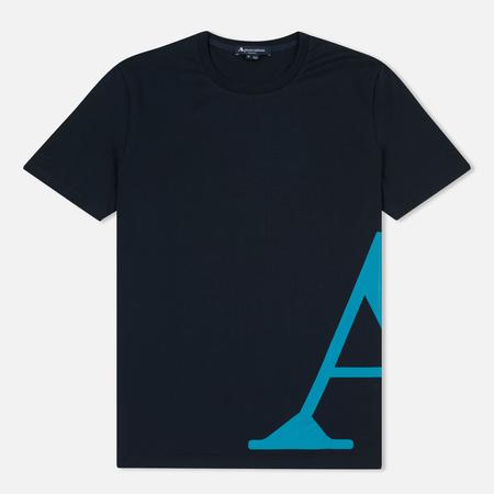 Мужская футболка Aquascutum Reid Printed Crew Neck SS Navy