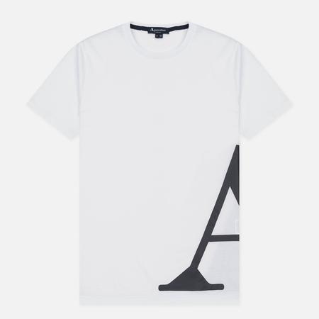 Мужская футболка Aquascutum Reid Printed Crew Neck SS White