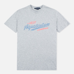 Aquascutum Stratton Logo Print Men's T-shirt Grey photo- 0