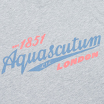Aquascutum Stratton Logo Print Men's T-shirt Grey photo- 2