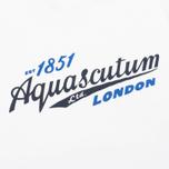 Aquascutum Stratton Logo Print Men's T-shirt White photo- 2