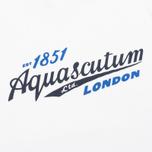 Мужская футболка Aquascutum Stratton Logo Print White фото- 2