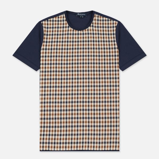 Мужская футболка Aquascutum Thornton Club Check Vicuna