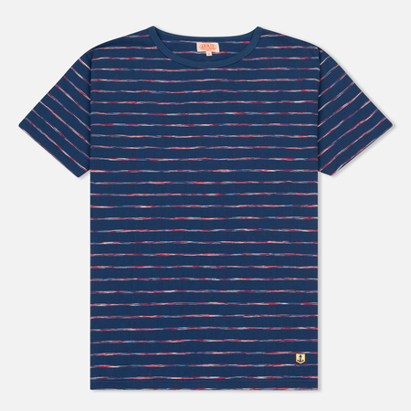 Мужская футболка Armor-Lux Heritage Manches Courtes Oceano Blue/Red