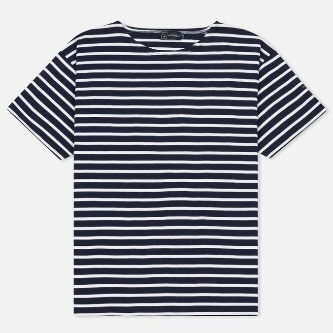Мужская футболка Armor-Lux Mariniere Doelan Navy/White