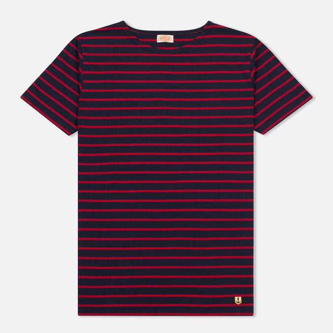 Мужская футболка Armor-Lux Mariniere Manches Courtes Dark Blue/Dark Red