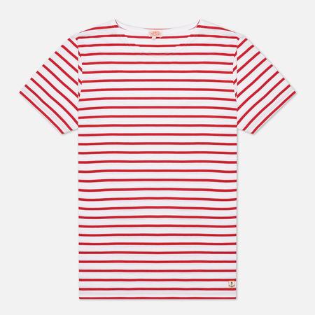 Мужская футболка Armor-Lux Mariniere Manches Courtes White/Dark Red
