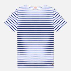 Мужская футболка Armor-Lux Heritage Mariniere Hoedic White/Etoile Royal Blue
