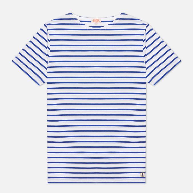 Мужская футболка Armor-Lux Mariniere Manches Courtes White/Star Blue