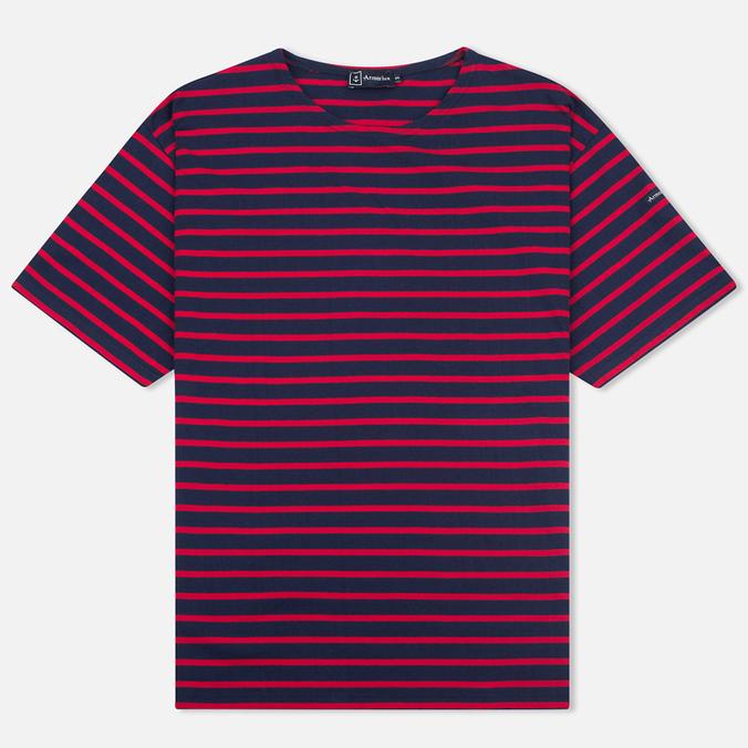 Мужская футболка Armor-Lux Mariniere Theviec Dark Blue/Dark Red