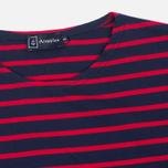 Мужская футболка Armor-Lux Mariniere Theviec Dark Blue/Dark Red фото- 1