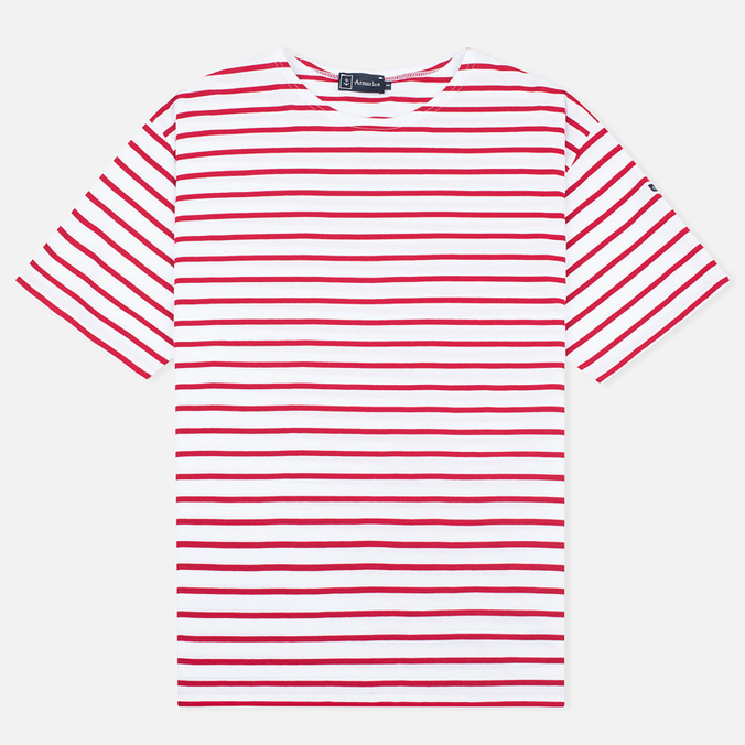 Мужская футболка Armor-Lux Mariniere Theviec White/Dark Red