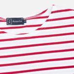 Мужская футболка Armor-Lux Mariniere Theviec White/Dark Red фото- 1